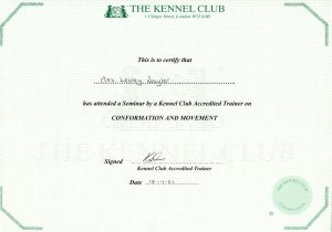 Lesley Naylor Kennel Accreditation on Conformation and Movement